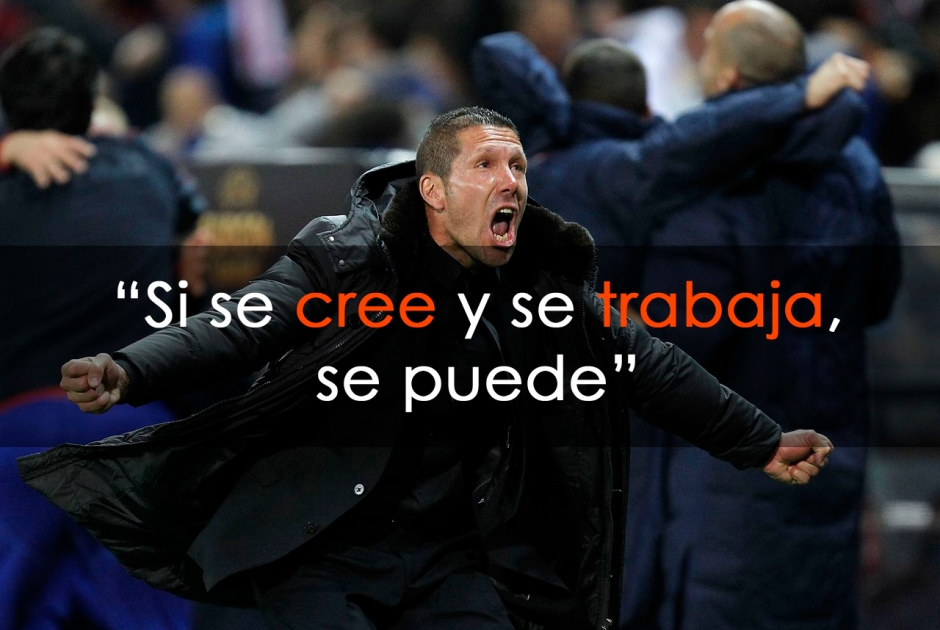 "Diego Simeone: ""If you believe and work hard, you can"""